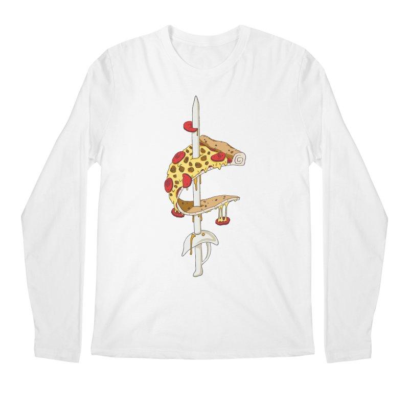 Cavs Pizza Men's Regular Longsleeve T-Shirt by mikesobeck's Artist Shop