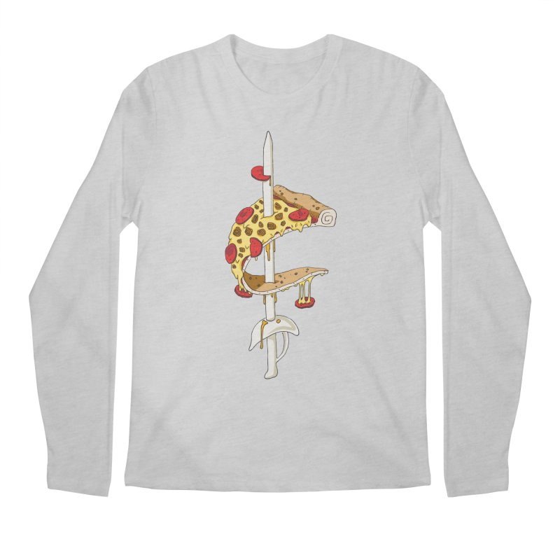Cavs Pizza Men's Longsleeve T-Shirt by mikesobeck's Artist Shop