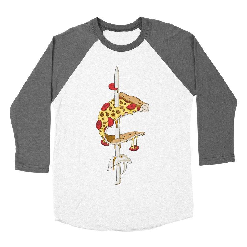 Cavs Pizza Men's Baseball Triblend Longsleeve T-Shirt by mikesobeck's Artist Shop
