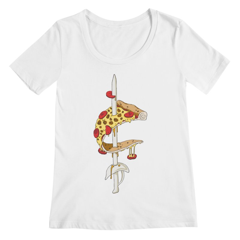 Cavs Pizza Women's Regular Scoop Neck by mikesobeck's Artist Shop