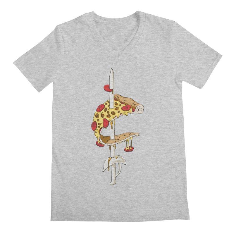 Cavs Pizza Men's V-Neck by mikesobeck's Artist Shop