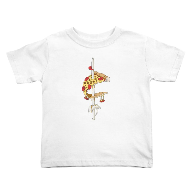 Cavs Pizza Kids Toddler T-Shirt by mikesobeck's Artist Shop