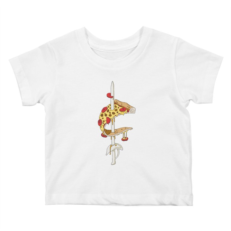 Cavs Pizza Kids Baby T-Shirt by mikesobeck's Artist Shop