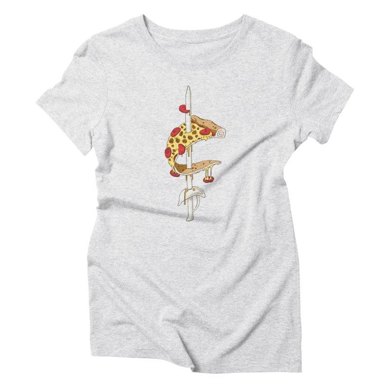 Cavs Pizza Women's T-Shirt by mikesobeck's Artist Shop