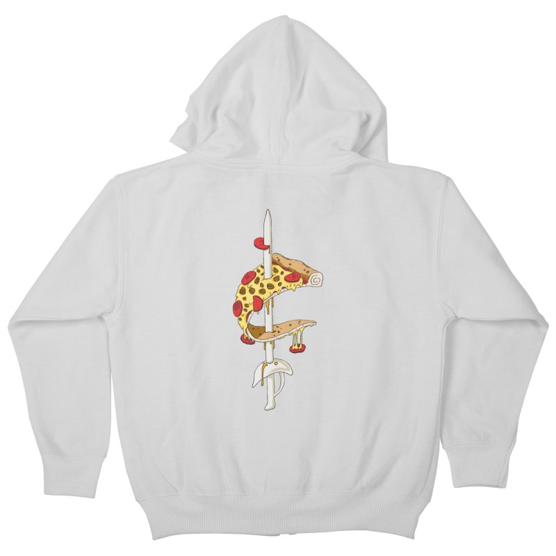 Cavs Pizza Kids Zip-Up Hoody by mikesobeck's Artist Shop