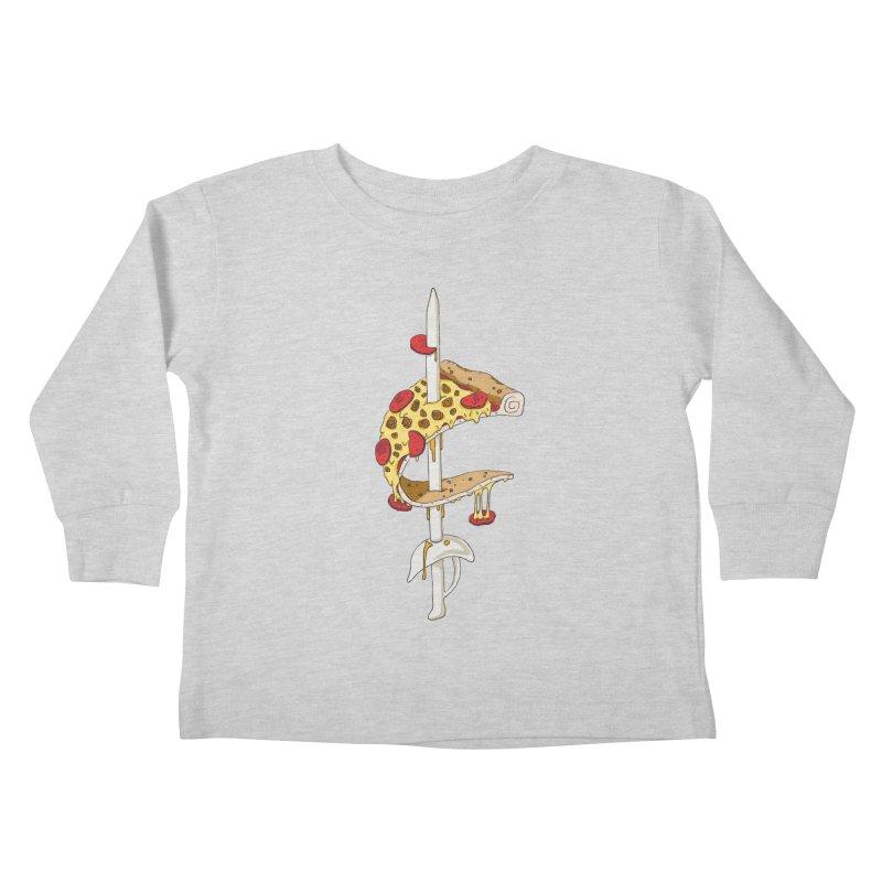 Cavs Pizza Kids Toddler Longsleeve T-Shirt by mikesobeck's Artist Shop