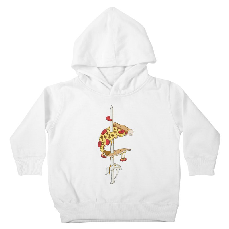 Cavs Pizza Kids Toddler Pullover Hoody by mikesobeck's Artist Shop