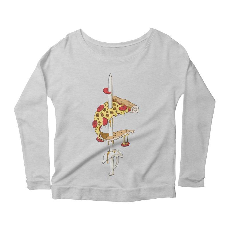 Cavs Pizza Women's Scoop Neck Longsleeve T-Shirt by mikesobeck's Artist Shop