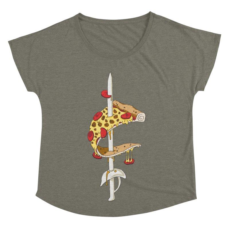 Cavs Pizza Women's Dolman Scoop Neck by mikesobeck's Artist Shop