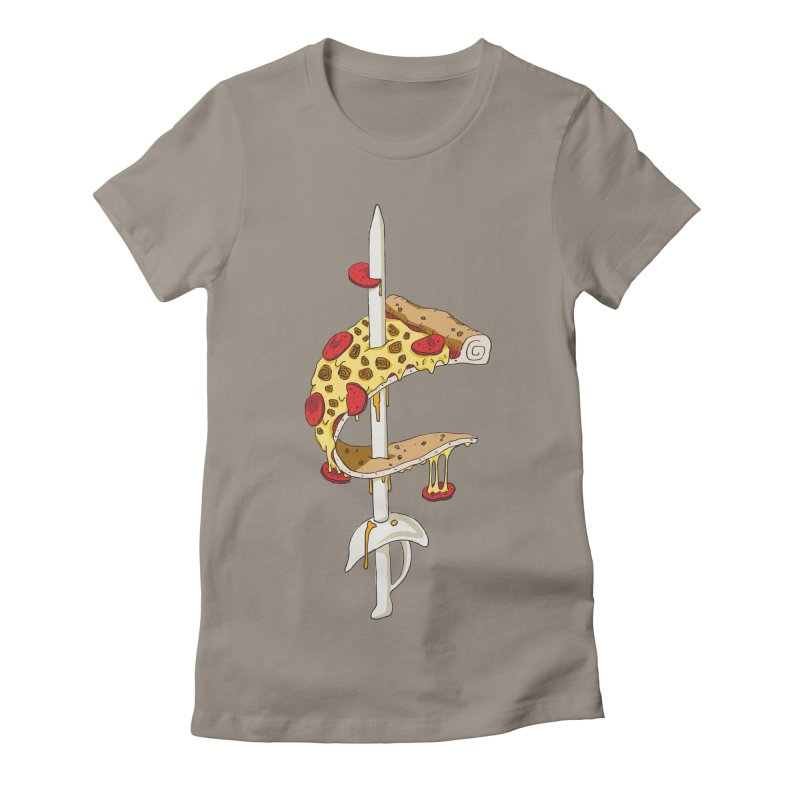 Cavs Pizza Women's Fitted T-Shirt by mikesobeck's Artist Shop