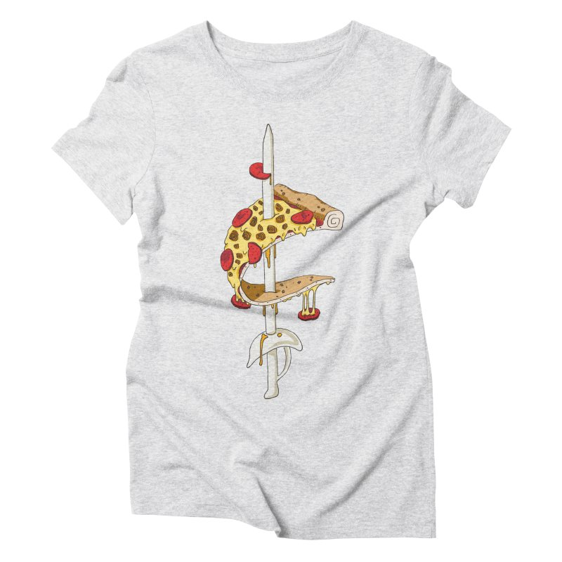 Cavs Pizza Women's Triblend T-Shirt by mikesobeck's Artist Shop