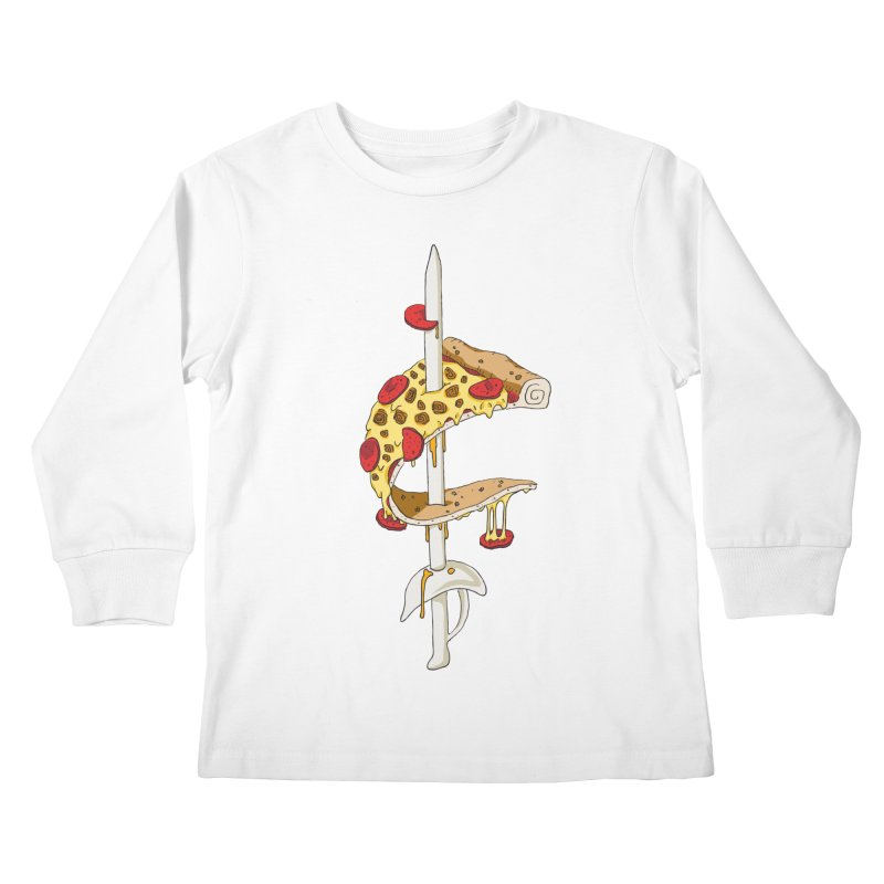 Cavs Pizza Kids Longsleeve T-Shirt by mikesobeck's Artist Shop