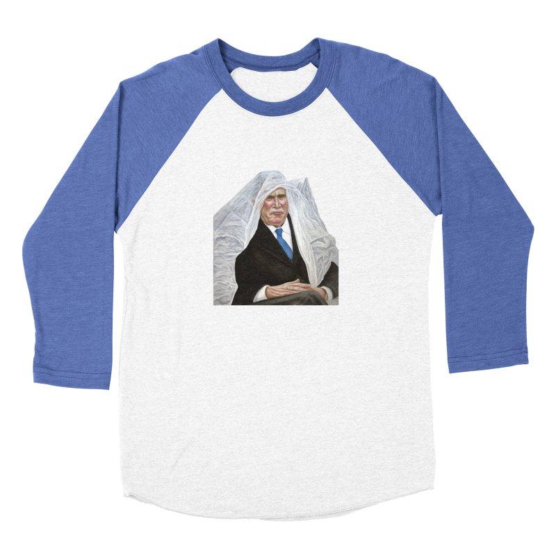 George W. Bush Men's Baseball Triblend Longsleeve T-Shirt by mikesobeck's Artist Shop