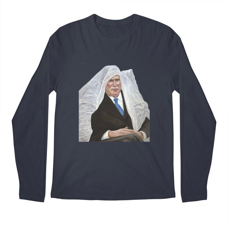 George W. Bush Men's Longsleeve T-Shirt by mikesobeck's Artist Shop
