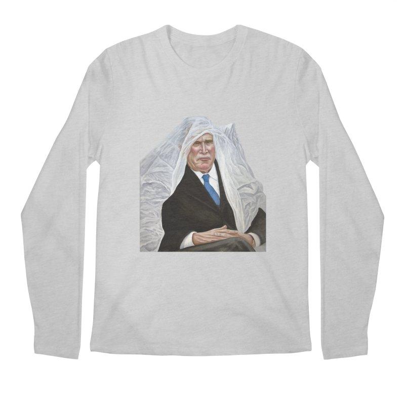George W. Bush Men's Regular Longsleeve T-Shirt by mikesobeck's Artist Shop