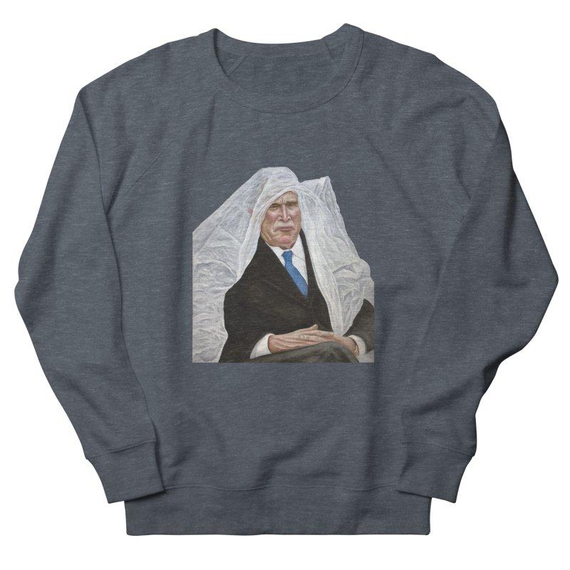 George W. Bush Men's French Terry Sweatshirt by mikesobeck's Artist Shop