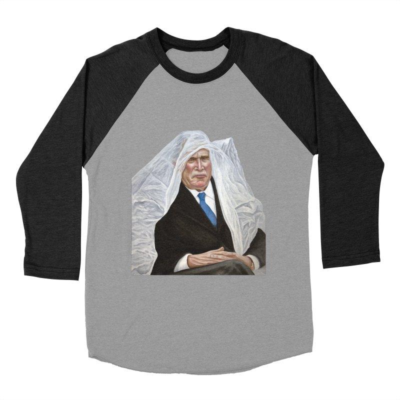 George W. Bush Women's Baseball Triblend T-Shirt by mikesobeck's Artist Shop