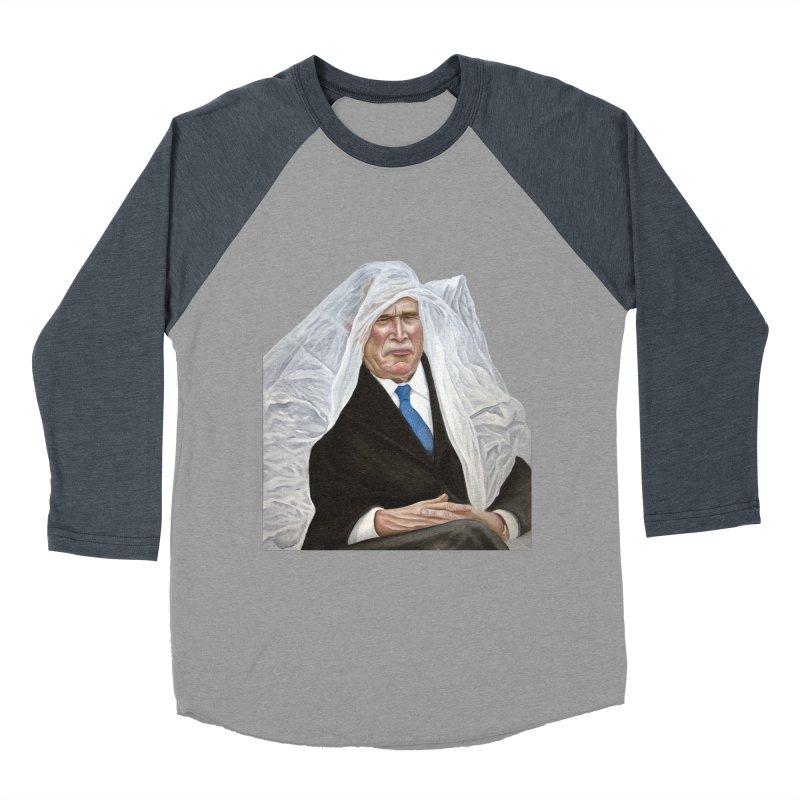 George W. Bush Women's Baseball Triblend Longsleeve T-Shirt by mikesobeck's Artist Shop