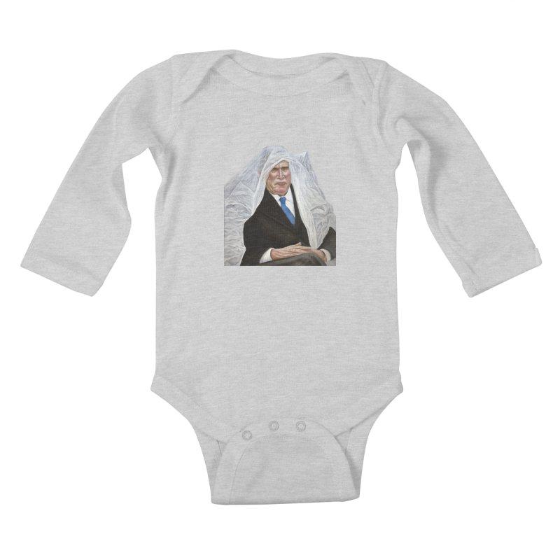 George W. Bush Kids Baby Longsleeve Bodysuit by mikesobeck's Artist Shop
