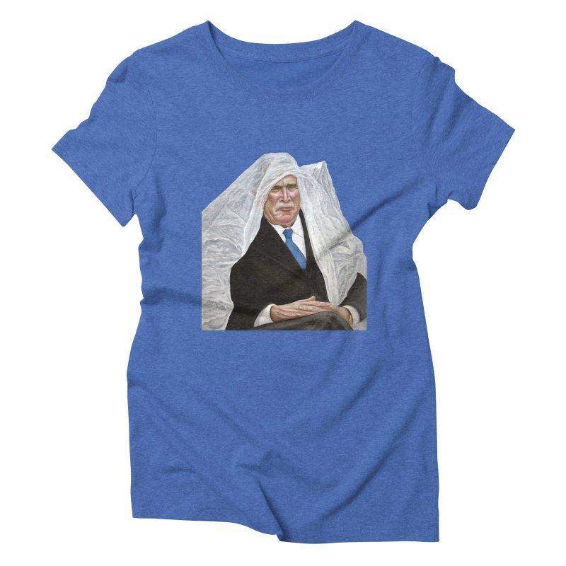 George W. Bush Women's Triblend T-Shirt by mikesobeck's Artist Shop