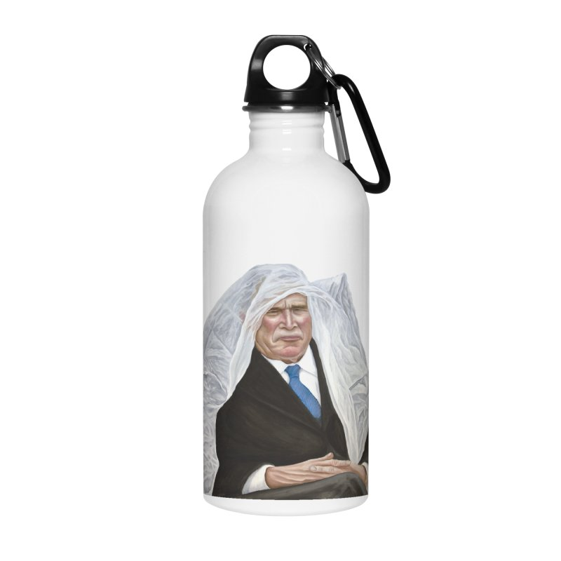 George W. Bush Accessories Water Bottle by mikesobeck's Artist Shop
