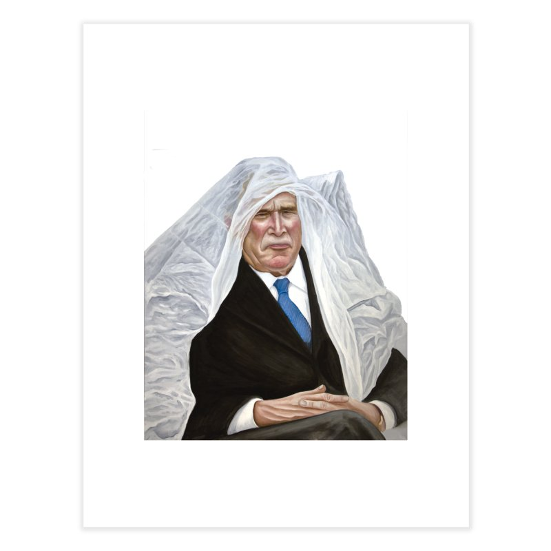 George W. Bush Home Fine Art Print by mikesobeck's Artist Shop