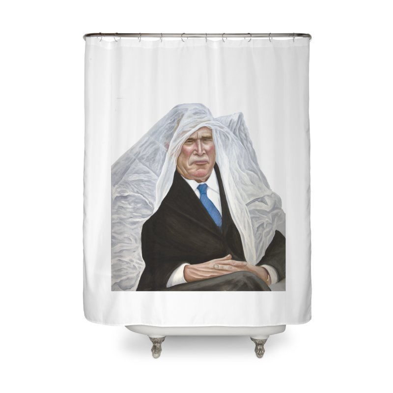 George W. Bush Home Shower Curtain by mikesobeck's Artist Shop