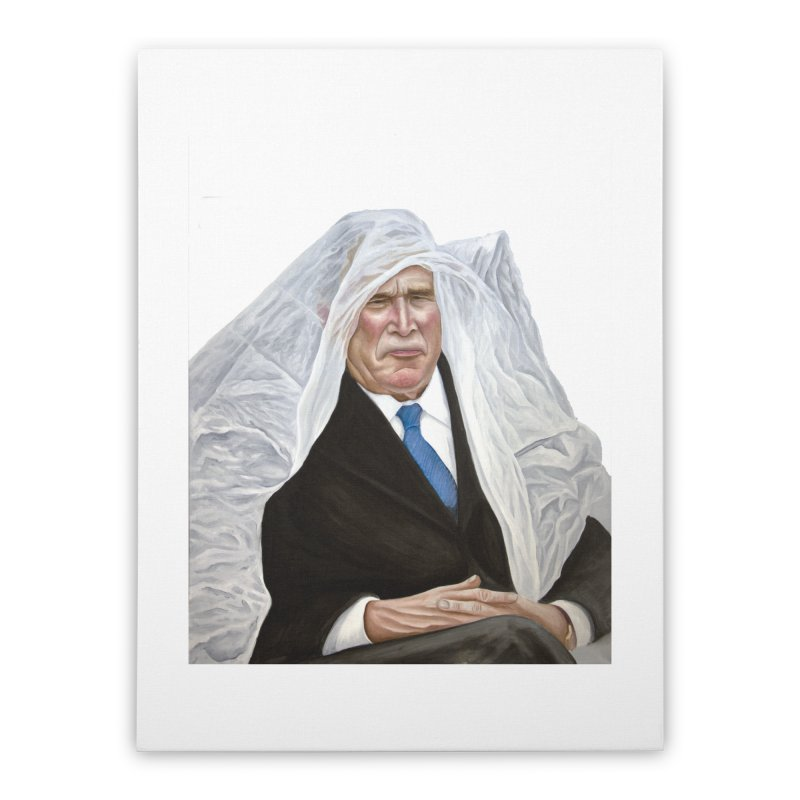 George W. Bush Home Stretched Canvas by mikesobeck's Artist Shop