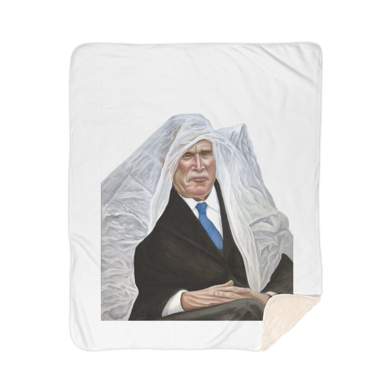 George W. Bush Home Sherpa Blanket Blanket by mikesobeck's Artist Shop