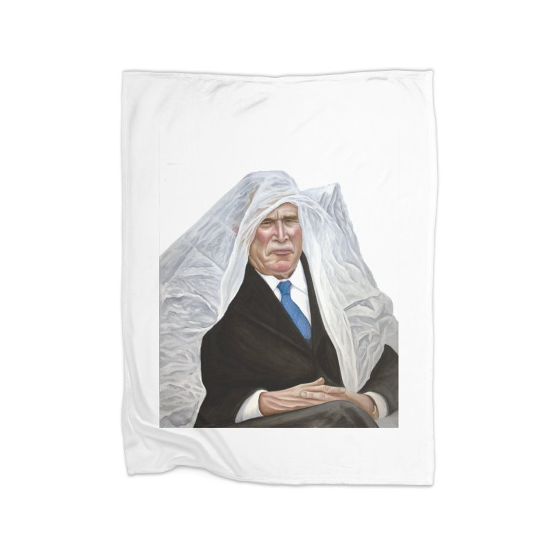 George W. Bush Home Blanket by mikesobeck's Artist Shop