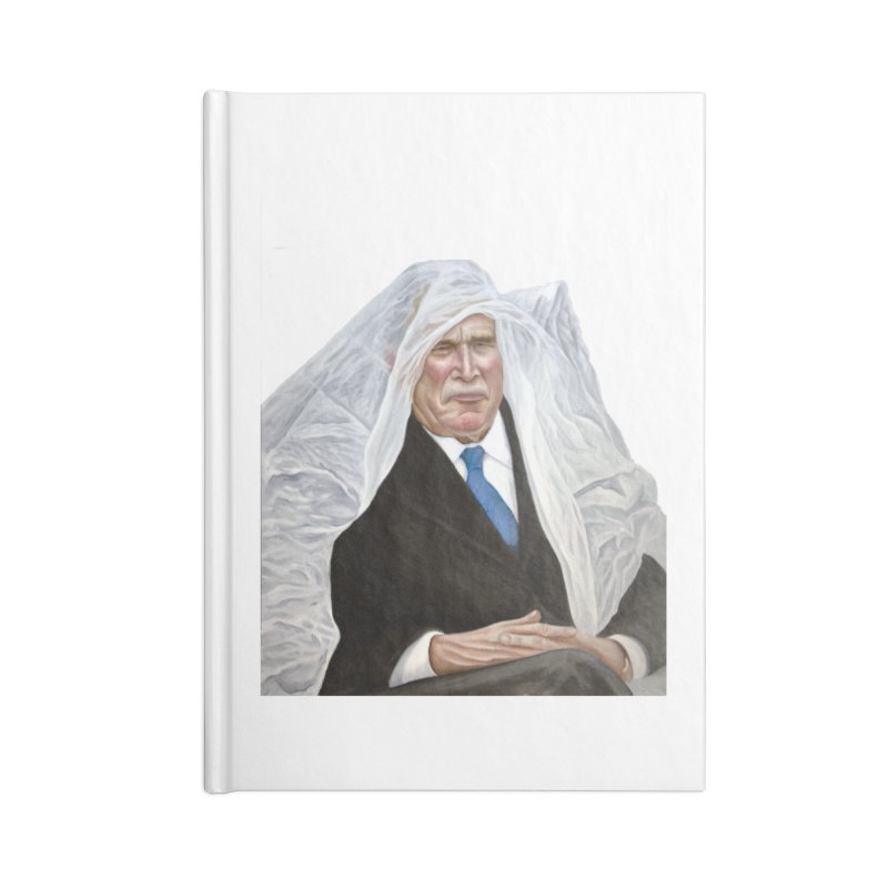 George W. Bush Accessories Blank Journal Notebook by mikesobeck's Artist Shop