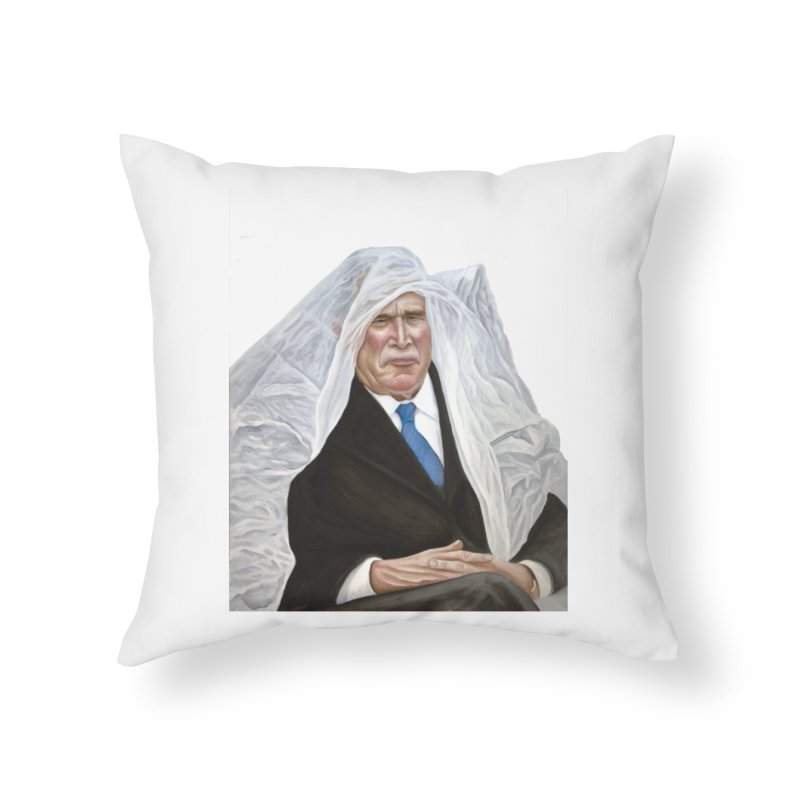 George W. Bush Home Throw Pillow by mikesobeck's Artist Shop