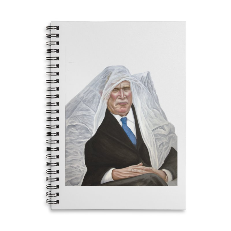 George W. Bush Accessories Lined Spiral Notebook by mikesobeck's Artist Shop
