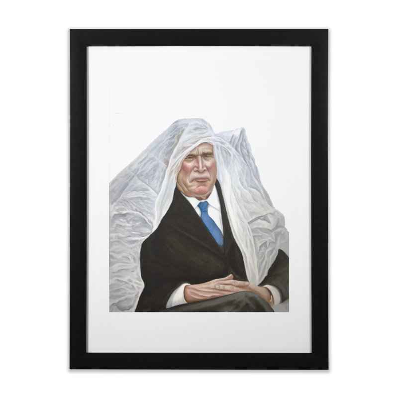 George W. Bush Home Framed Fine Art Print by mikesobeck's Artist Shop