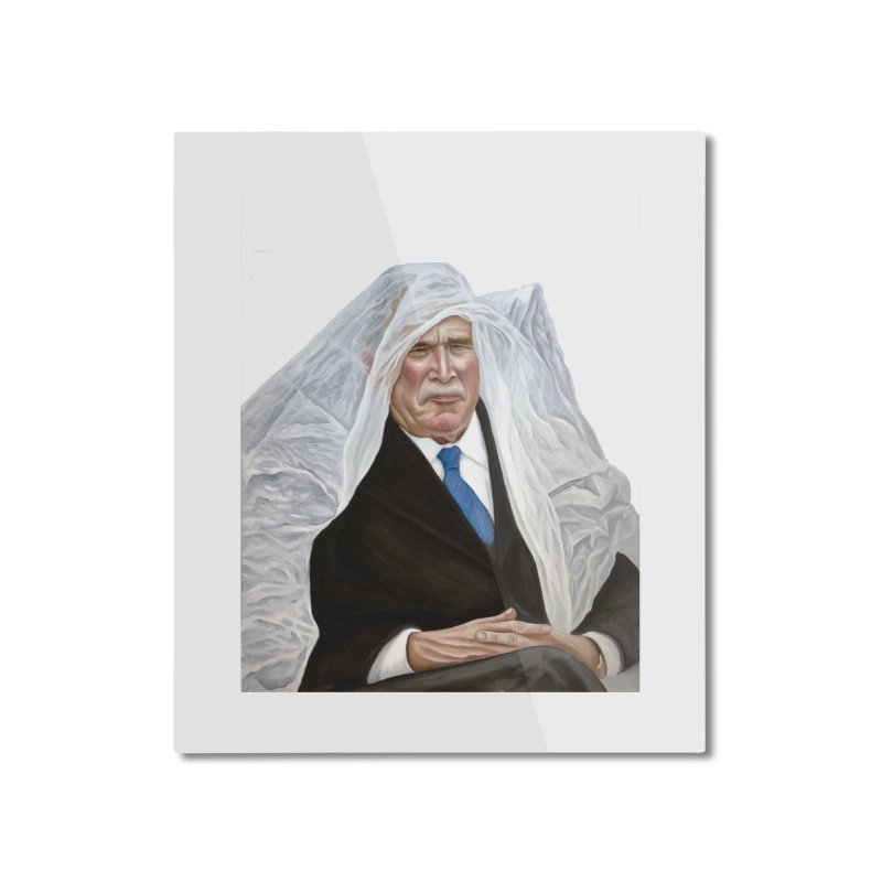 George W. Bush Home Mounted Aluminum Print by mikesobeck's Artist Shop