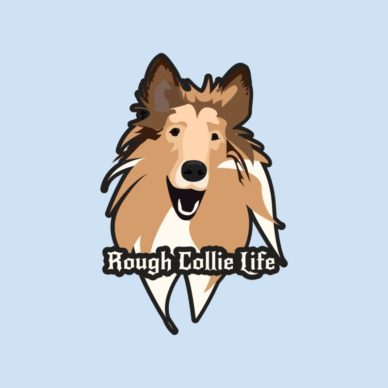 Rough Collie Life Home Throw Pillow by Cory & Mike's Artist Shop