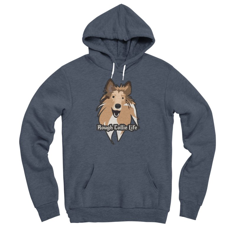 Rough Collie Life Men's Sponge Fleece Pullover Hoody by Cory & Mike's Artist Shop