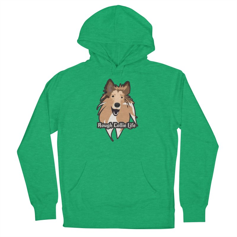 Rough Collie Life Men's French Terry Pullover Hoody by Cory & Mike's Artist Shop