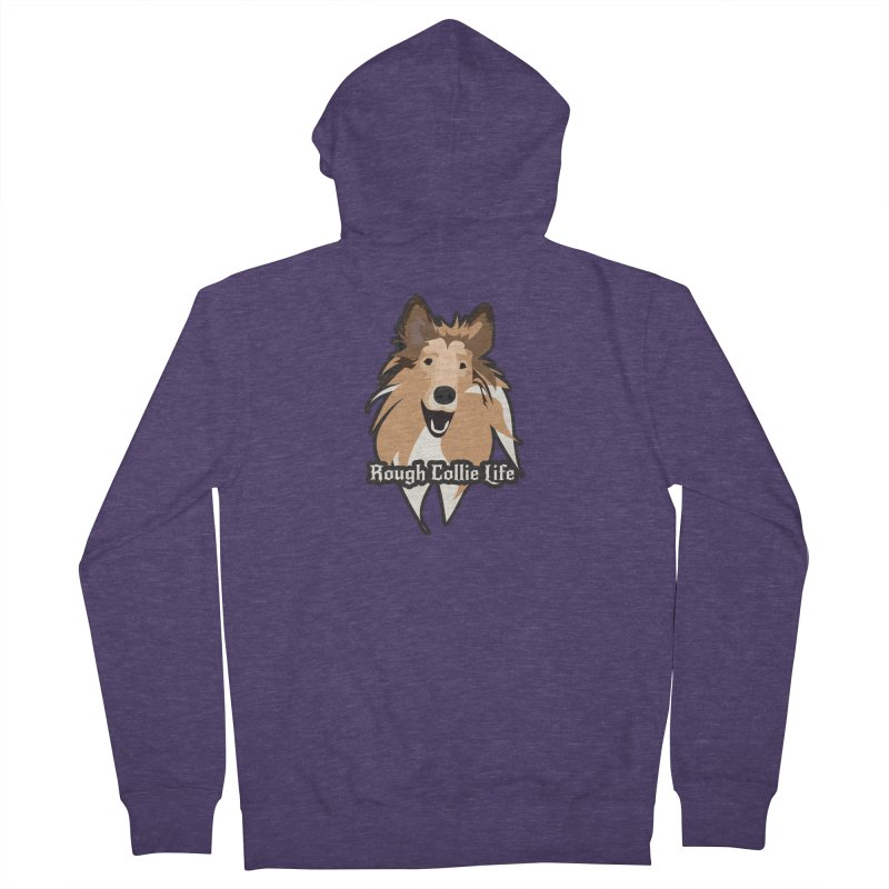 Rough Collie Life Men's French Terry Zip-Up Hoody by Cory & Mike's Artist Shop