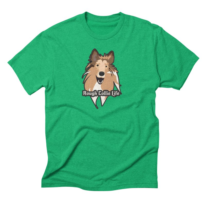 Rough Collie Life Men's Triblend T-Shirt by Cory & Mike's Artist Shop