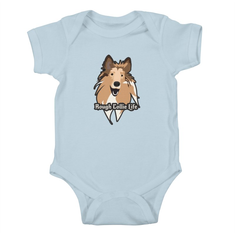Rough Collie Life Kids Baby Bodysuit by Cory & Mike's Artist Shop