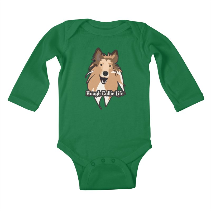 Rough Collie Life Kids Baby Longsleeve Bodysuit by Cory & Mike's Artist Shop