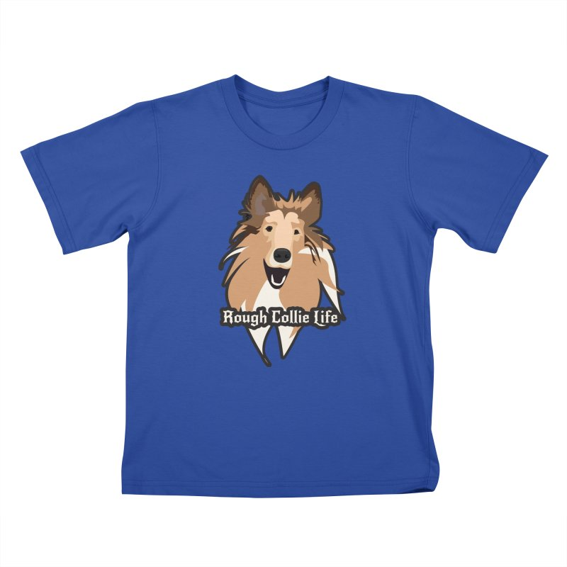 Rough Collie Life Kids T-Shirt by Cory & Mike's Artist Shop