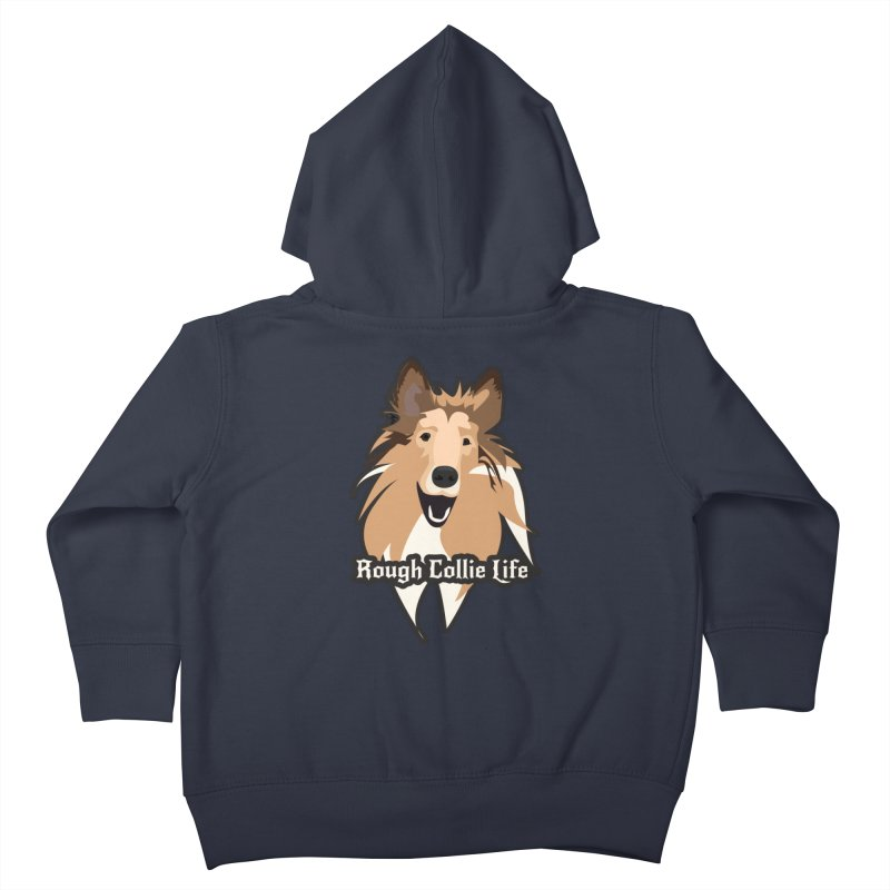 Rough Collie Life Kids Toddler Zip-Up Hoody by Cory & Mike's Artist Shop