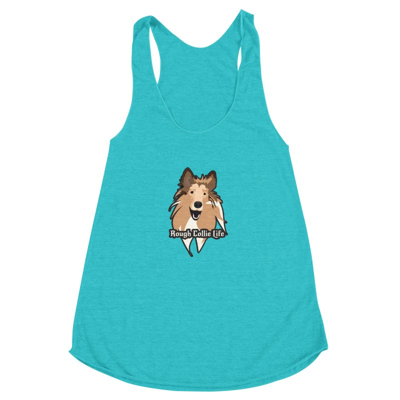Rough Collie Life Women's Racerback Triblend Tank by Cory & Mike's Artist Shop
