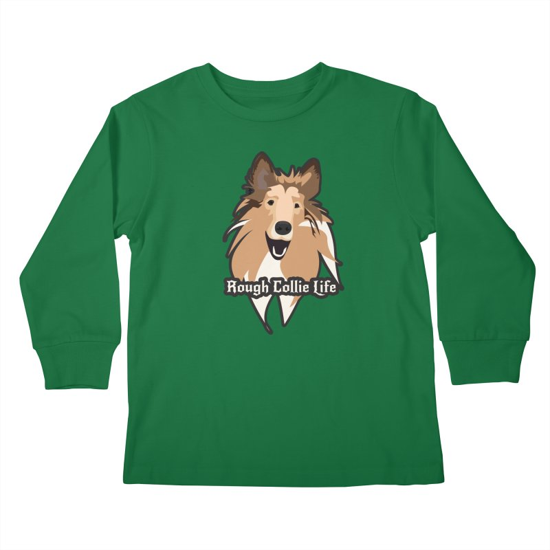 Rough Collie Life Kids Longsleeve T-Shirt by Cory & Mike's Artist Shop