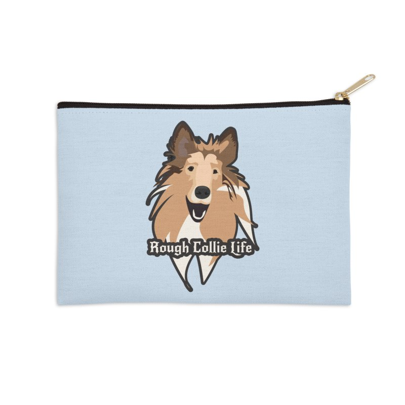 Rough Collie Life Accessories Zip Pouch by Cory & Mike's Artist Shop