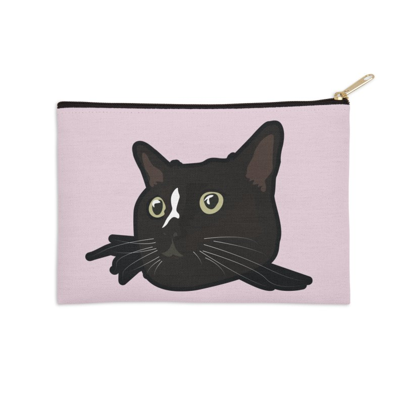 Tuxedo cat Accessories Zip Pouch by Cory & Mike's Artist Shop