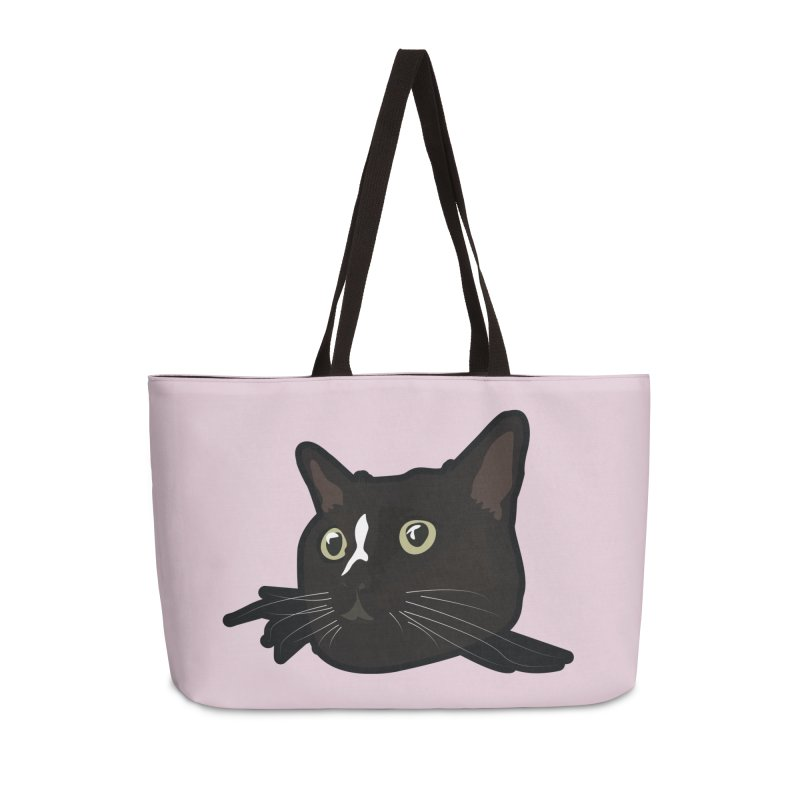 Tuxedo cat Accessories Weekender Bag Bag by Cory & Mike's Artist Shop