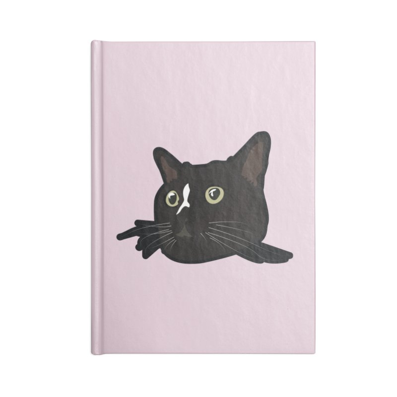 Tuxedo cat Accessories Lined Journal Notebook by Cory & Mike's Artist Shop